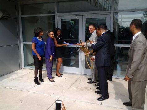 A ribbon cutting marks the official opening of Morgan State