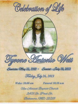 Tyrone West Obituary
