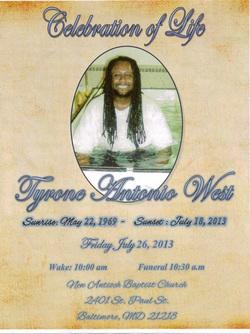 Tyrone West Obituary
