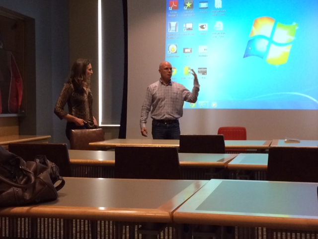 Professors Divonna Stebick from Gettysburg College (left) and Morgan's C. Sean Robinson (right) consider portrayals of gay youth on TV.
