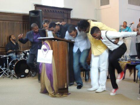 Congregants at the Community Church of Washington, D.C.