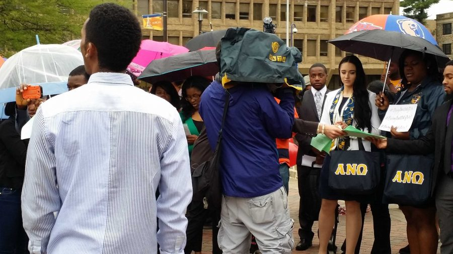 Morgan+students+protest+Nigerian+kidnappings.