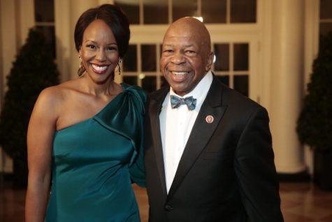 Elijah Cummings with his wife, Maya Rockeymoore Cummings.