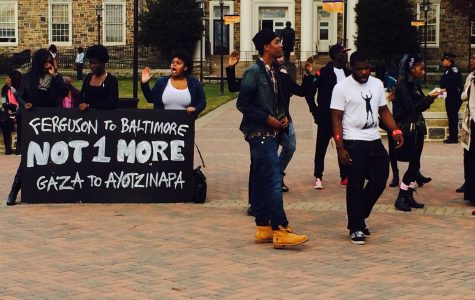Morgan students join national student walk-out.