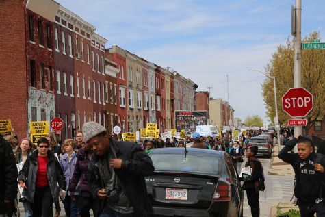 Protesters marching to City Hall for Saturdays national rally.
