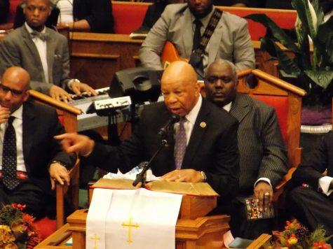 Rep. Elijah Cummings speaking at Freddie Grays funeral.