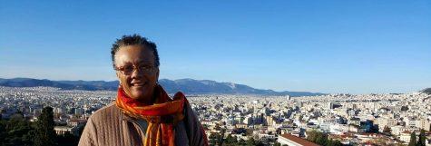 Morgan journalism professor Jackie Jones in Greece