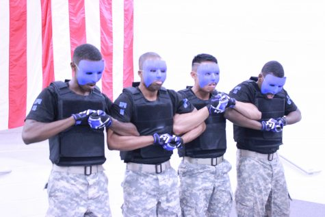 The National Society of Pershing Rifles Spring 2016 probate in Turners Armory. Photo by Terry Wright.