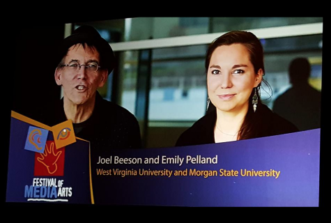 Joel Besson (Left) and Emily Pelland (Right). Photo by Jackie Jones, Chair of Multimedia Journalism of Morgan State Universitys School of Global Journalism & Communication