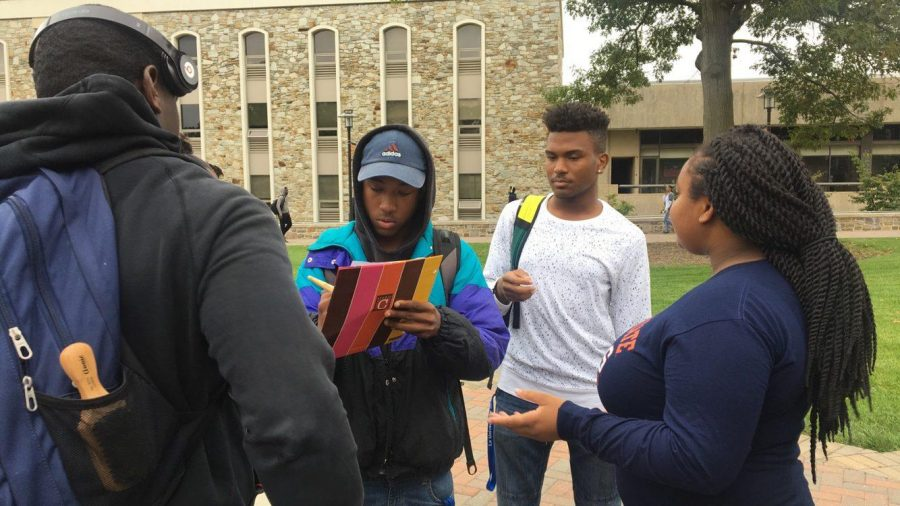 Students of Morgan State join in on national anthem protest