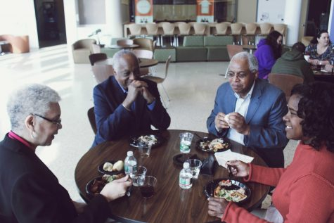 Attendees of the Tuskegee Airmen Symposium enjoying lunch. Photo by Maliik Obee.