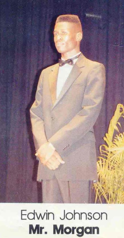 Edwin T. Johnson, serving as Mister Morgan 1991-1992. Courtesy of Edwin T. Johnson.