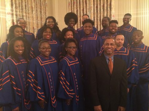 The MSU choir sang alongside Aretha Franklin