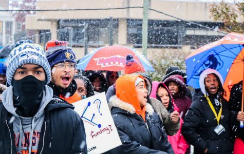 Morgan students gather to support their HBCU despite inclement weather