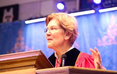 Elizabeth Warren acknowledges the struggle of black graduates as 'not a person of color' during Morgan's commencement ceremony