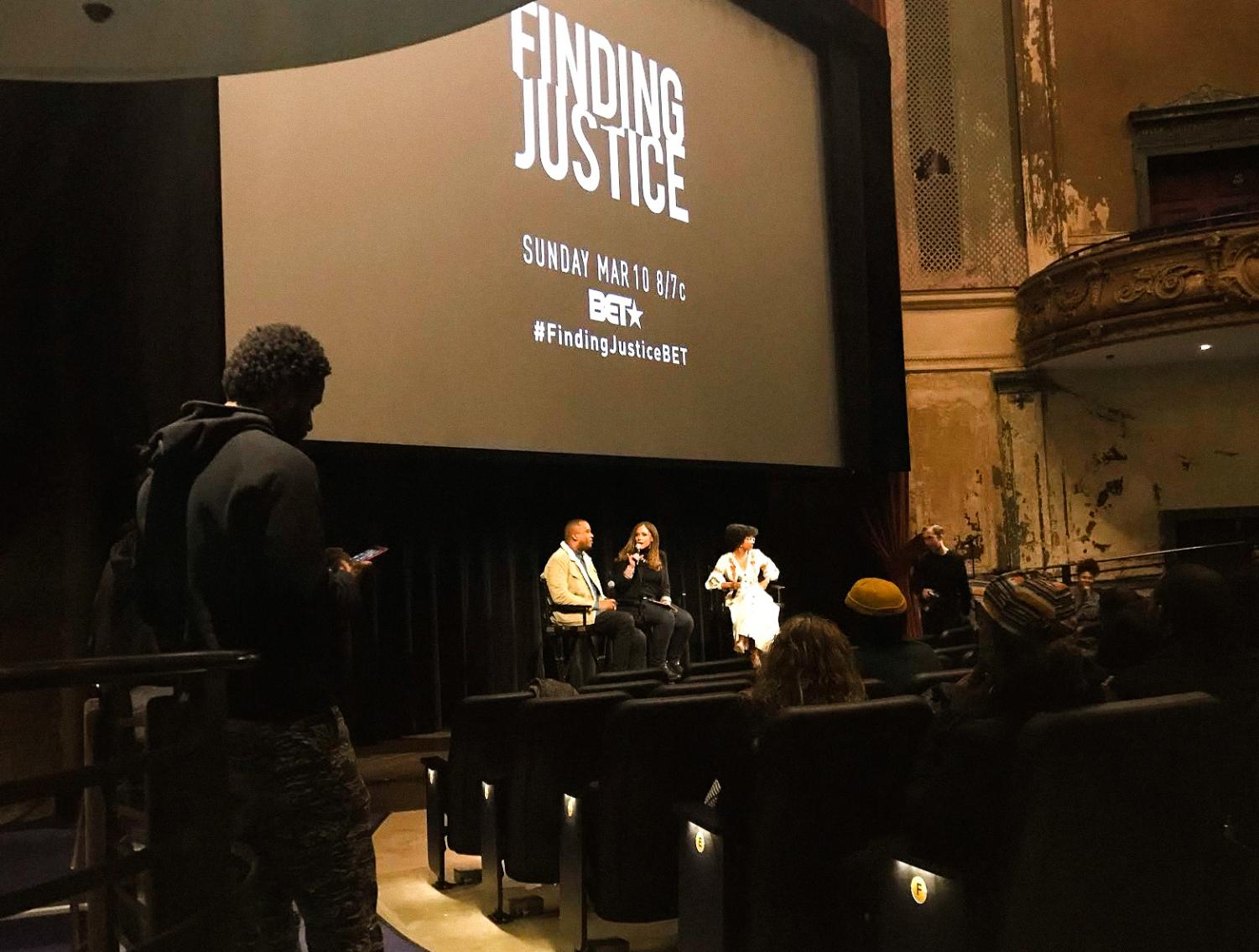 Screening of Finding Justice, photo by Iyanna Harris