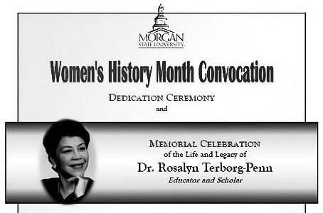 Women's History Month Convocation celebrates Dr. Terborg-Penn
