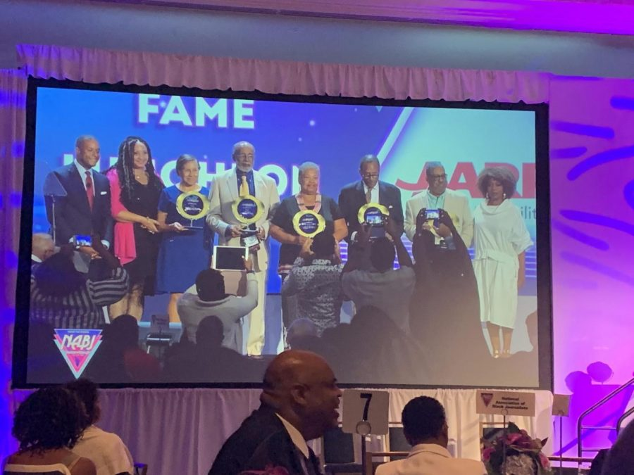 Honorees at the NABJ Hall of Fame reception in Miami