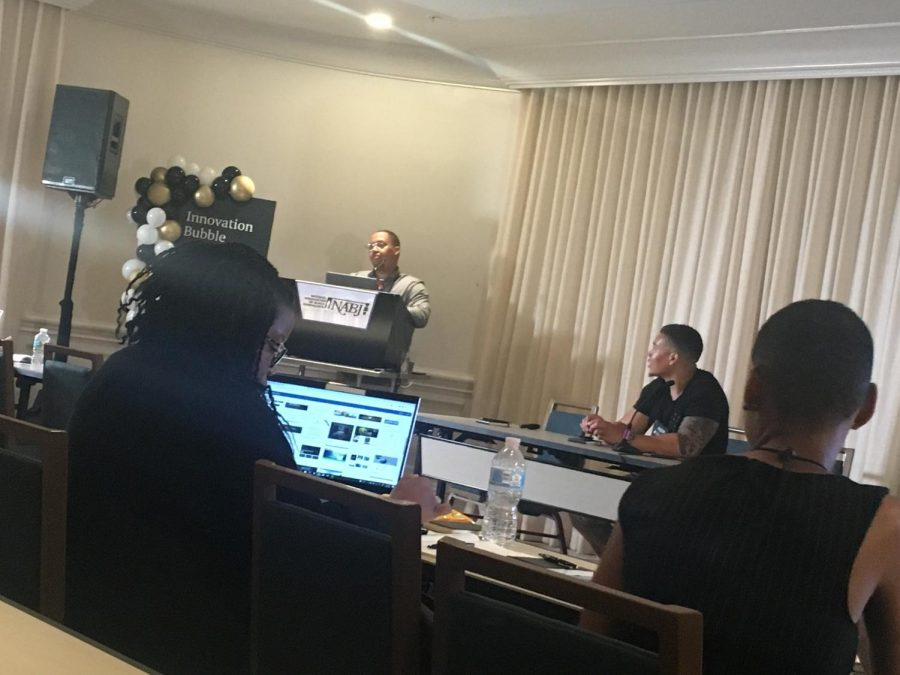 Participants at a Word Press panel at NABJ convention in Miami