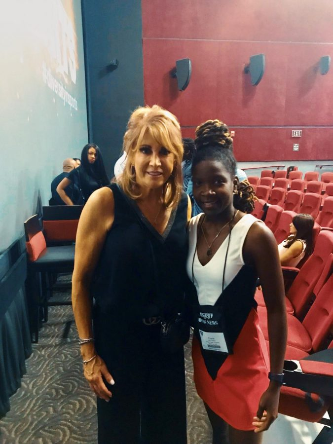 Basketball Hall of Famer Nancy Lieberman (left) and Corin Adams