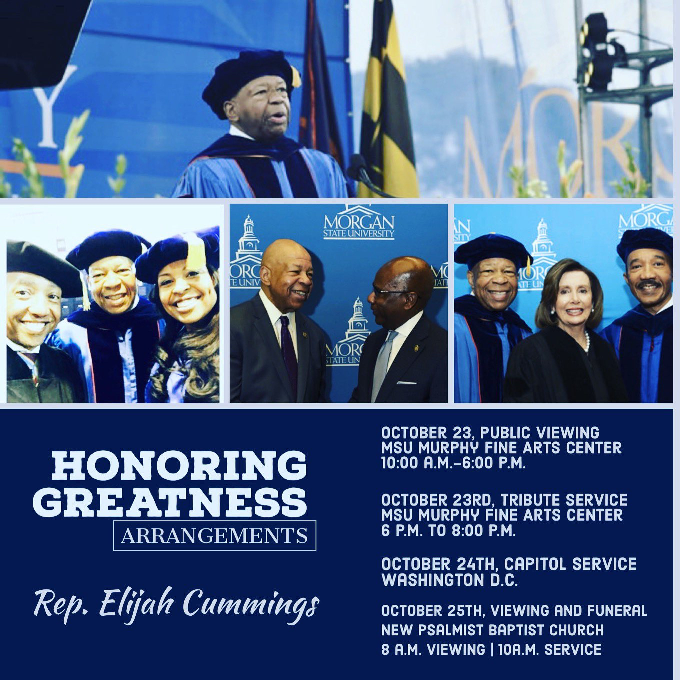 Funeral arrangements for the late Rep. Elijah E. Cummings.