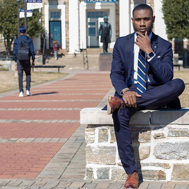 Industrial Engineering Major Alexander Freeman launches a free feminine products initiative at Morgan State University.