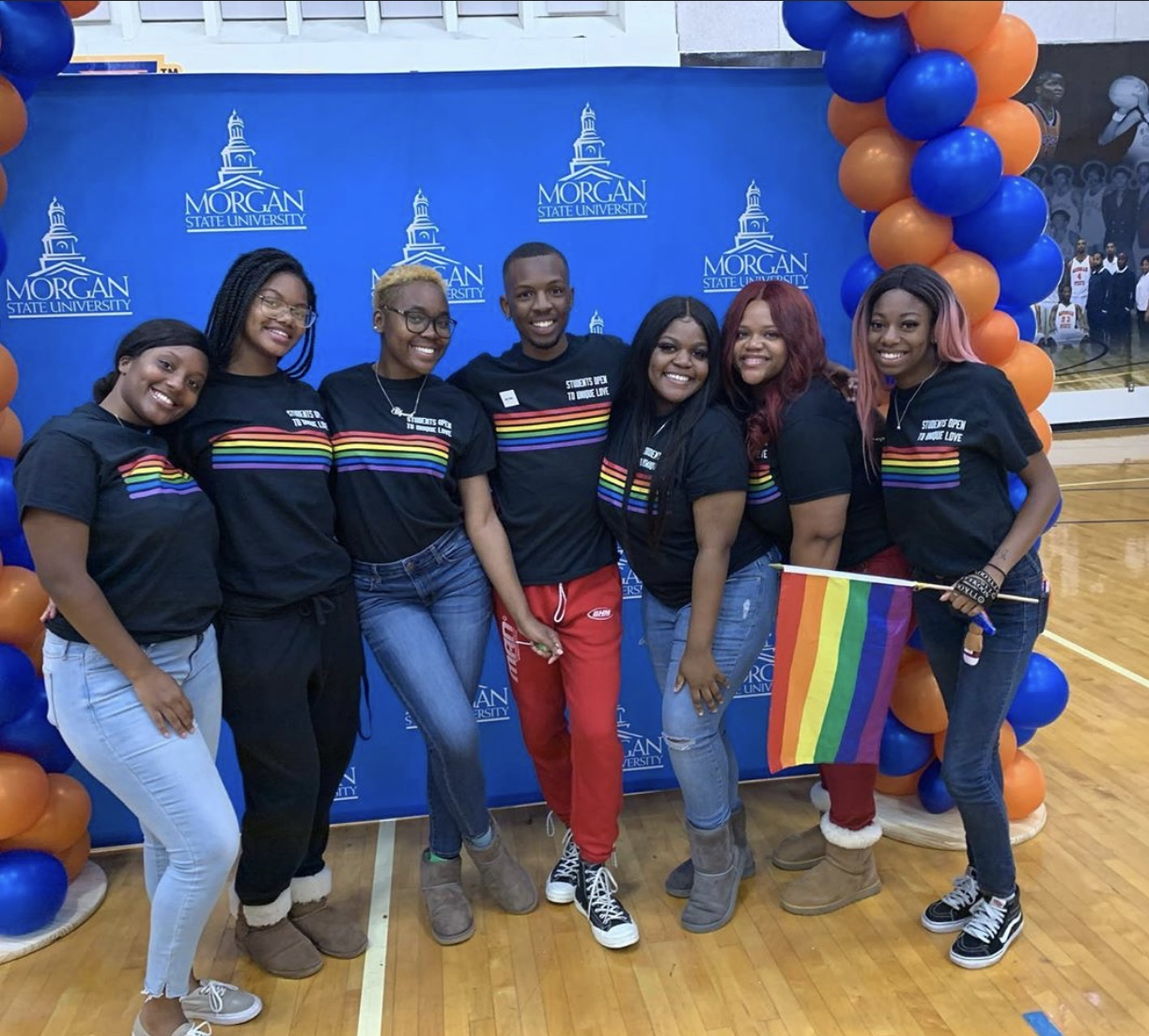SOUL posed for a picture during the university's annual Explore Morgan Day in November.