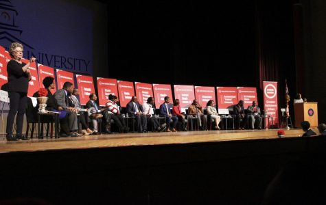 14 candidates gathered in the Murphy Fine Arts Center.