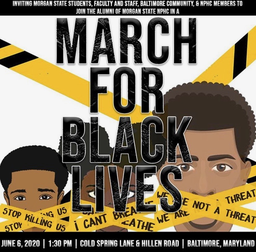 Morgan alumni organize 'March For Black Lives' protest