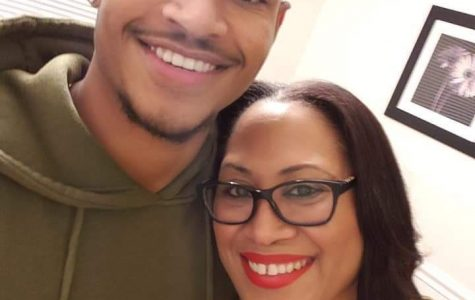 Morgan athlete Jordan Cofield smiles with his mother Chere Goode.