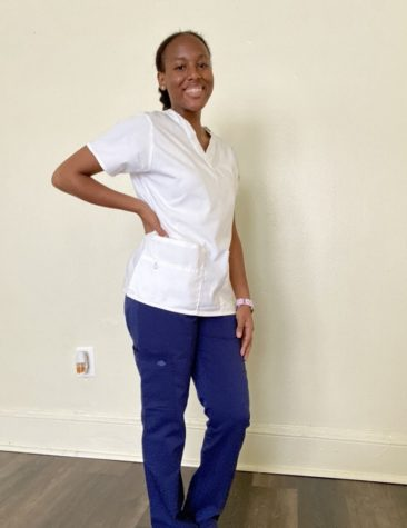 Junior nursing major Alisha Ovide starts her first year of nursing related courses this year.