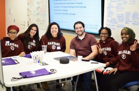 Alisha Ovide (second from right) participates in a Harvard University program for high school students.