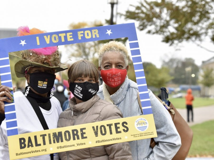 That's it: this is how Baltimore voted in the 2020 general election