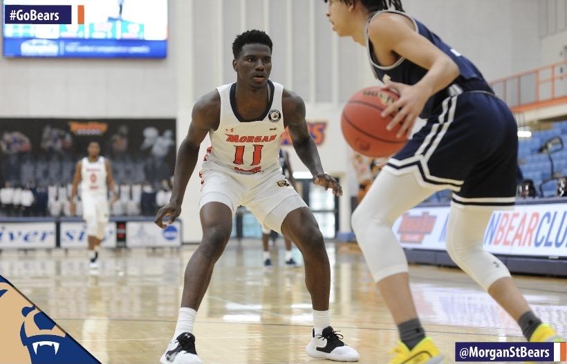 Junior Guard Malik Miller plays in Morgan State's men's basketball season opener.