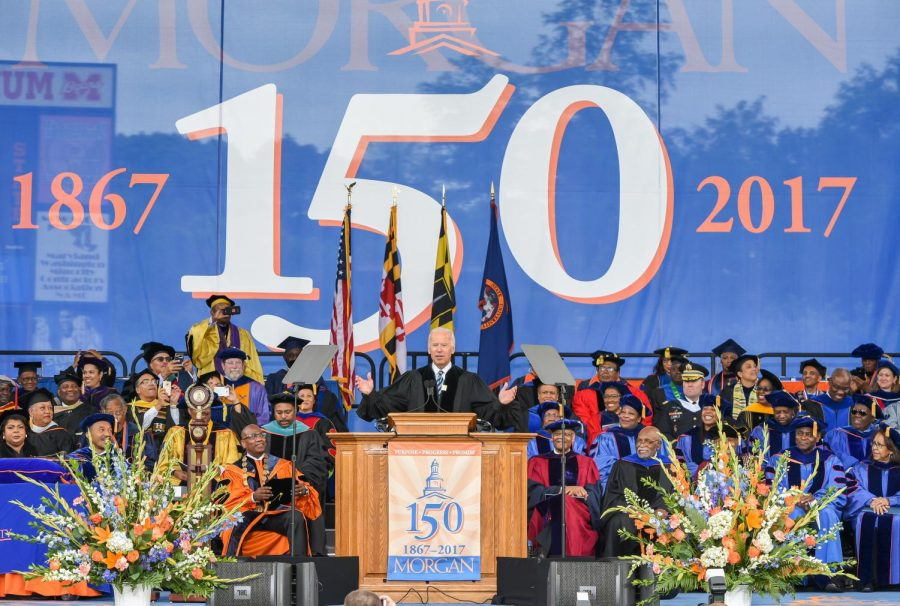 Democrat Joe Biden delivers keynote speech at Morgan State's 2017 Spring Commencement Ceremony