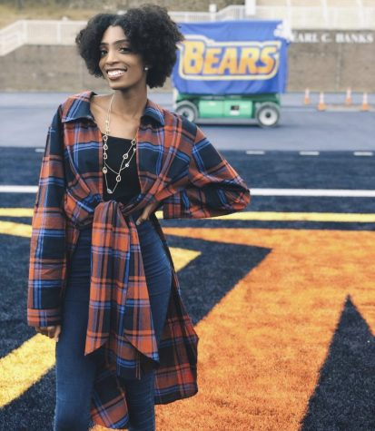 Sophomore Ashlyn Wilson poses on Morgan State