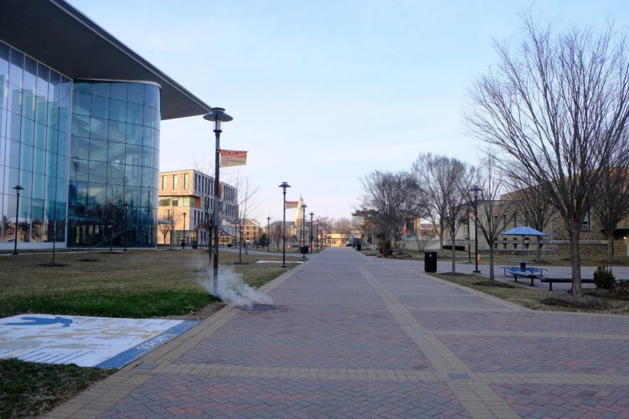 One year later, the Morgan State University campus is empty.