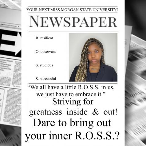 De'Janee Ross, a junior multimedia major, running for the 77th Miss Morgan State University