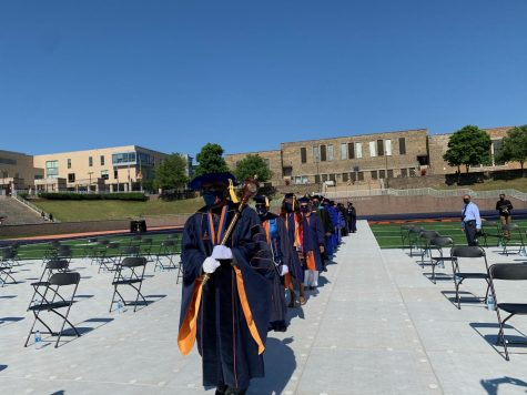 Academic procession into the 2021 commencement