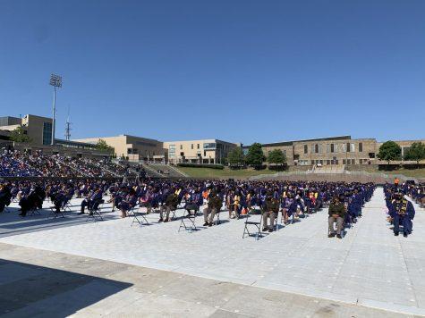 Prospective graduates listen to spring 2021 commencement ceremonies