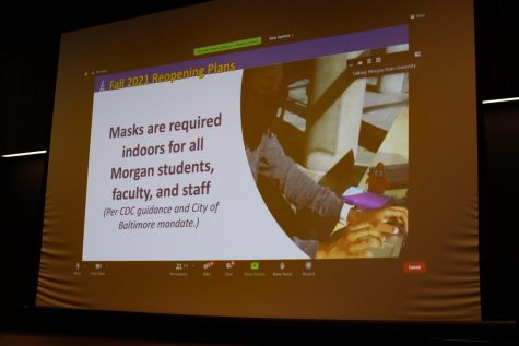 President Wilson announced masks are required indoors for all individuals on campus.