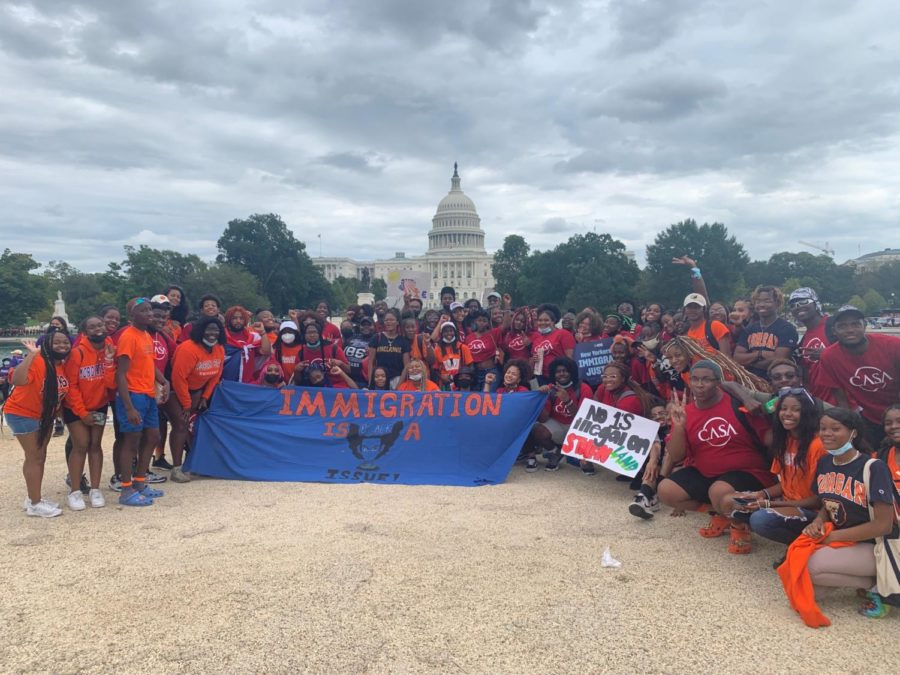 Over 100 students joined Morelys Urbano and the Central American Solidarity Association in protesting for immigration reform in Washington D.C. on Sept. 21.