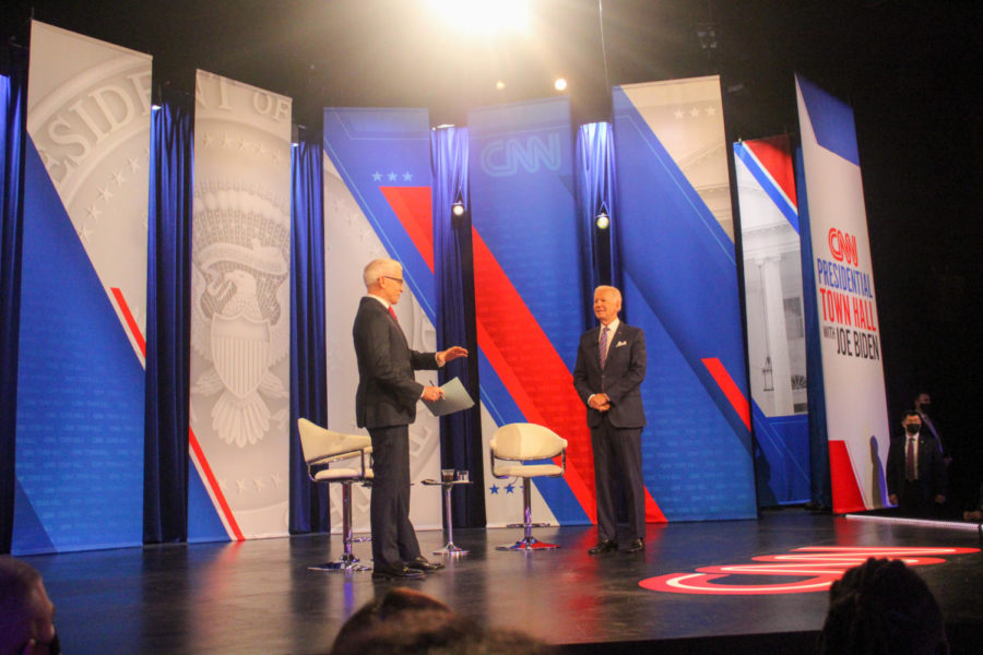 Thursdays presidential town hall took place at the Baltimore Center stage.