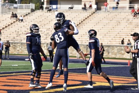 Morgan wide receiver Wesley Wolfolk had two catches for 49 yards including a 19-yard touchdown reception in the Bears 27-14 loss against Saint Francis.